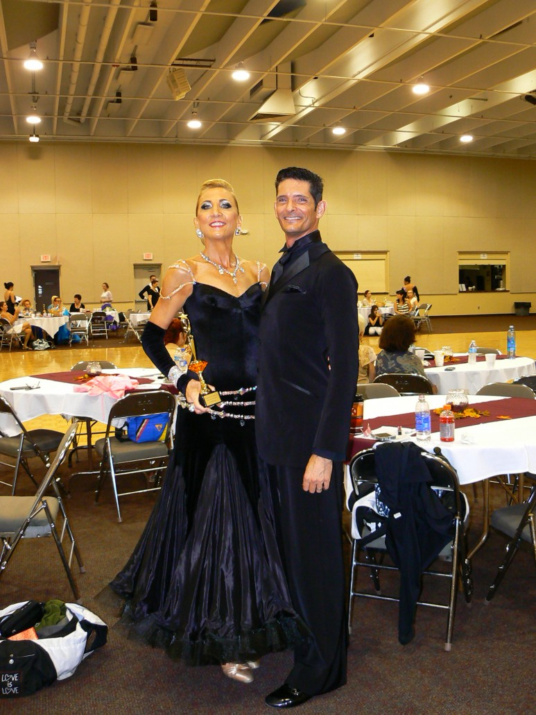 Chad and Georgianna enjoying the end of a great dancing day.