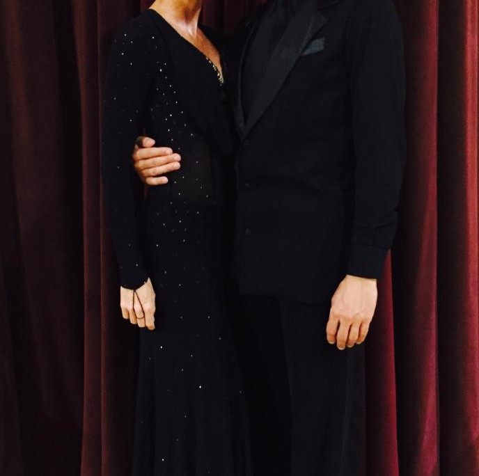 Marie and Neil about to perform a fabulous Foxtrot